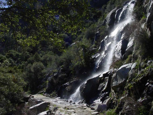Hetch_Hetchy_047_03192004 - Trailside waterfall not far from the tunnel