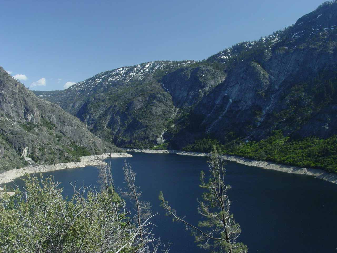 The manmade lake towards the head of Hetch Hetchy