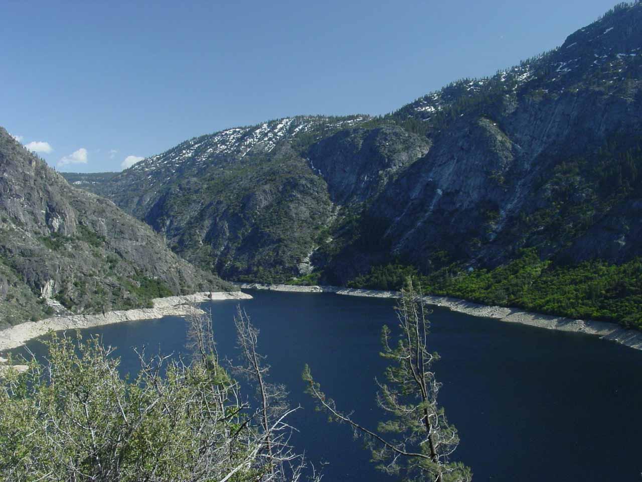 The manmade lake towards the head of Hetch Hetchy