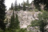 Hidden_Falls_Jenny_Lake_094_08132017 - Towards the very end of the lookout area, we saw this cliff face, which had people climbing it as they were apparently part of some kind of climbing school