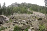 Hidden_Falls_Jenny_Lake_108_08132017 - The short spur leading to the Hidden Falls lookout passed by this sloping boulder field