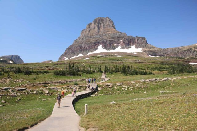 Hidden_Lake_020_08062017 - The boardwalk leading to Hidden Lake with Clements Mountain the background