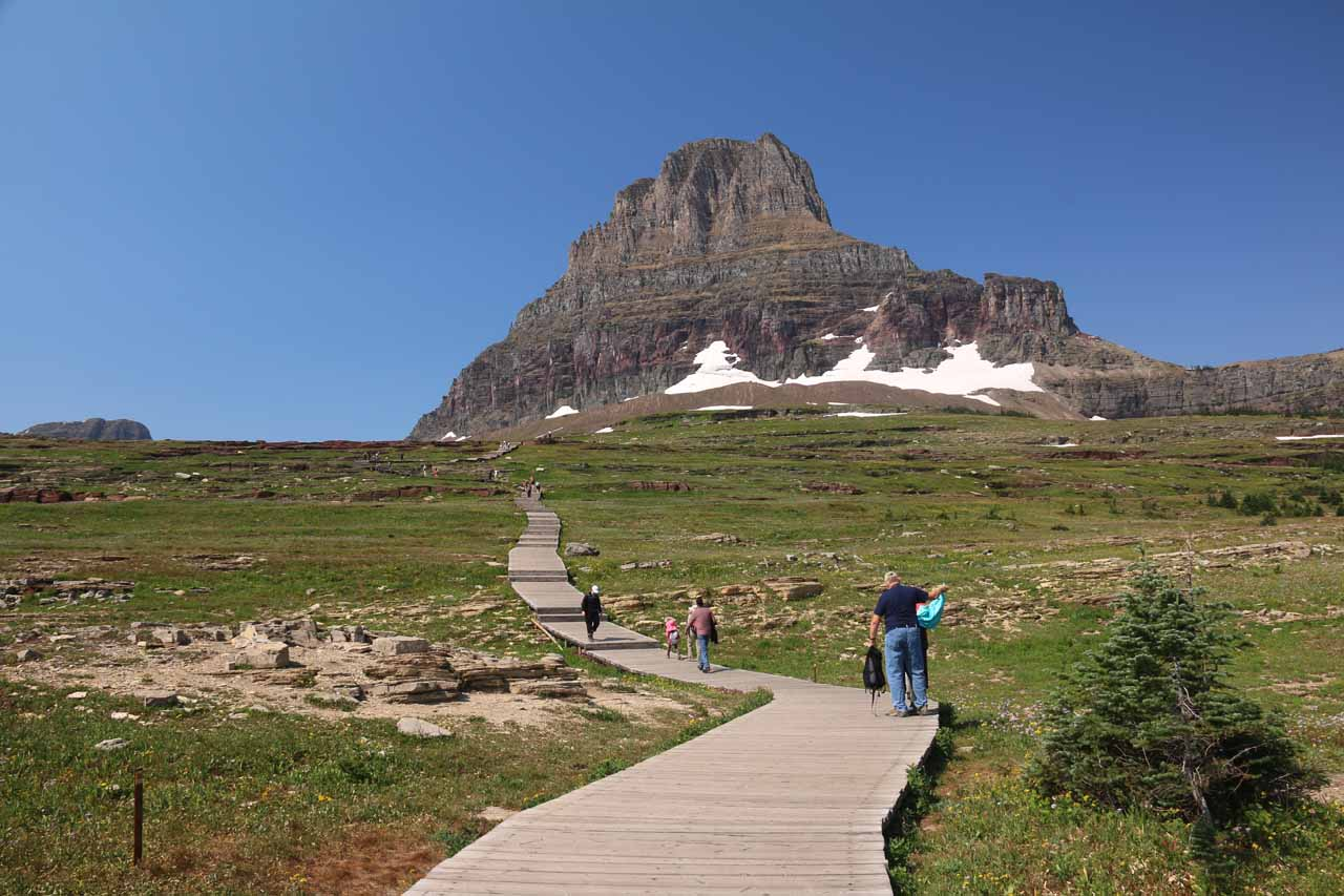 The boardwalk ascended for seemingly quite a long ways as it made its way closer to the foot of Clements Mountain