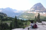 Hidden_Lake_172_08062017 - Julie and Tahia having a picnic lunch while enjoying the views of Hidden Lake