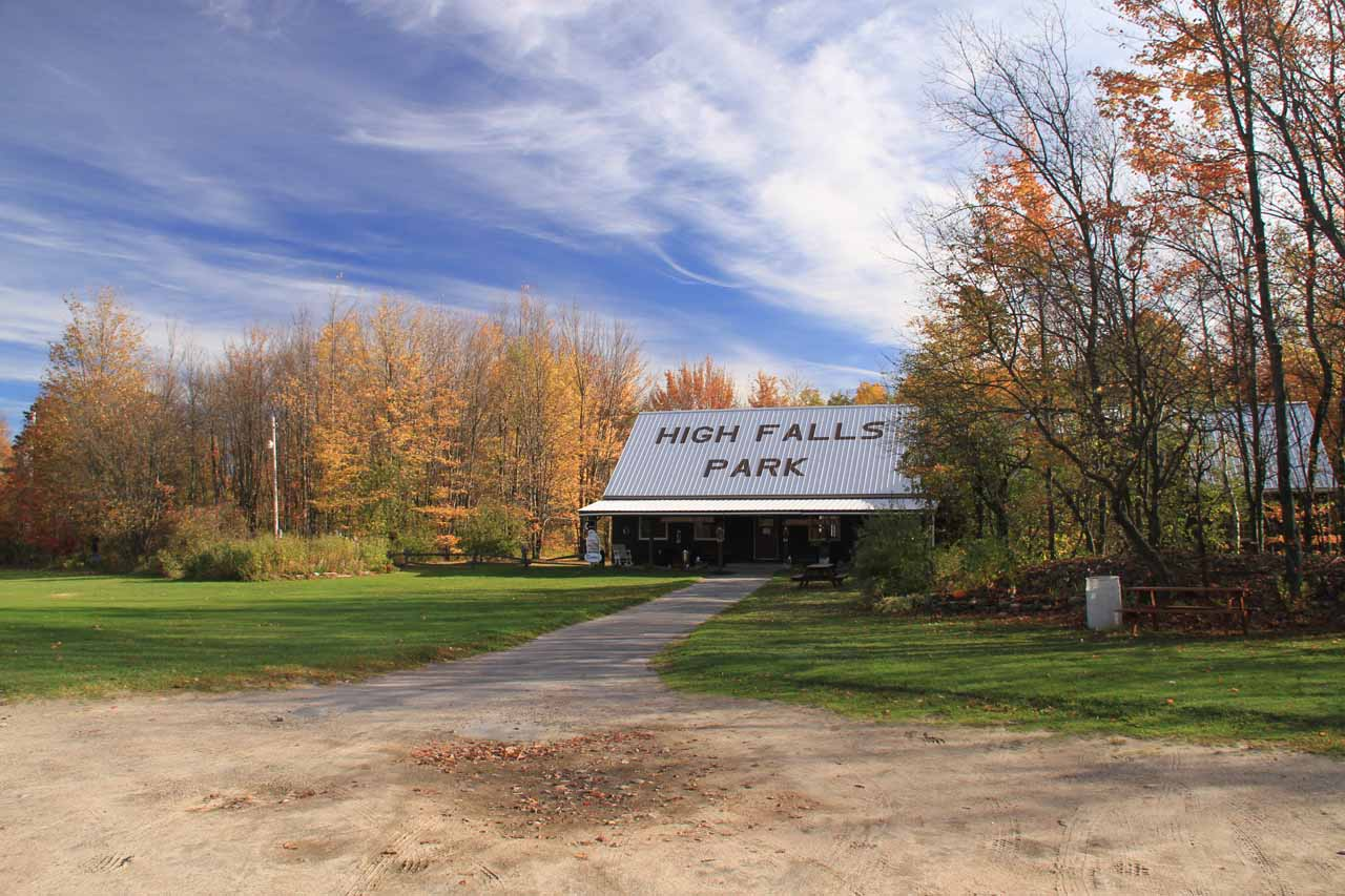 Car Park for the High Falls Park in Chateaugay