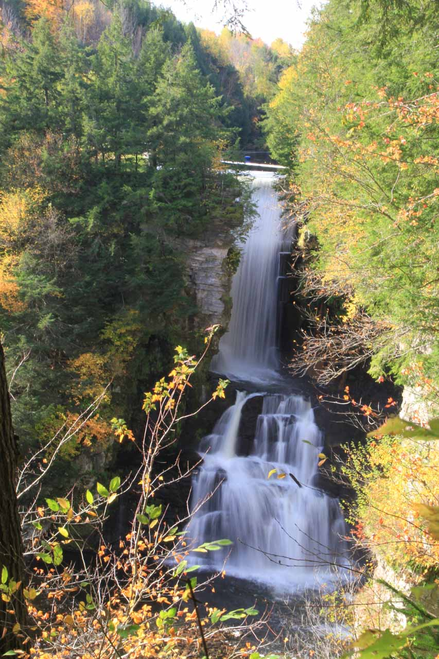 High Falls of the Chateaugay River from an upper vantage point before the stairs to its base