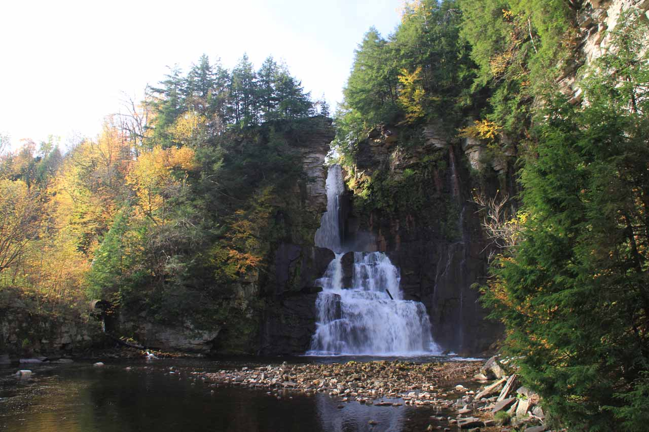 View from the base of High Falls