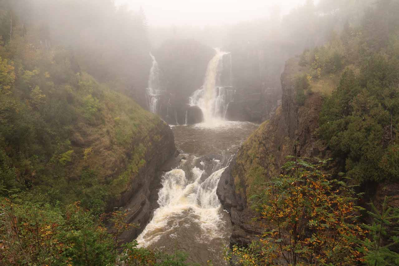High Falls on the American side as part of Grand Portage State Park