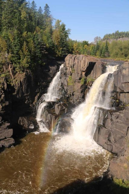 High_Falls_Pigeon_River_046_09272015 - The view of the High Falls of the Pigeon River on the Canadian side