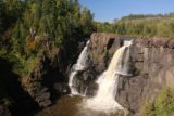 High_Falls_Pigeon_River_050_09272015 - Angled view of the High Falls of the Pigeon River on the Canadian side from the lookout with the railings