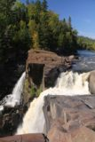 High_Falls_Pigeon_River_105_09272015 - Profile of part of the High Falls of the Pigeon River from its precarious brink