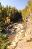 High_Falls_Pigeon_River_116_09272015 - Looking back upstream along part of the Canadian side of the Pigeon River, where it appeared that there were more small cascades and waterfalls hidden within the deep gorge