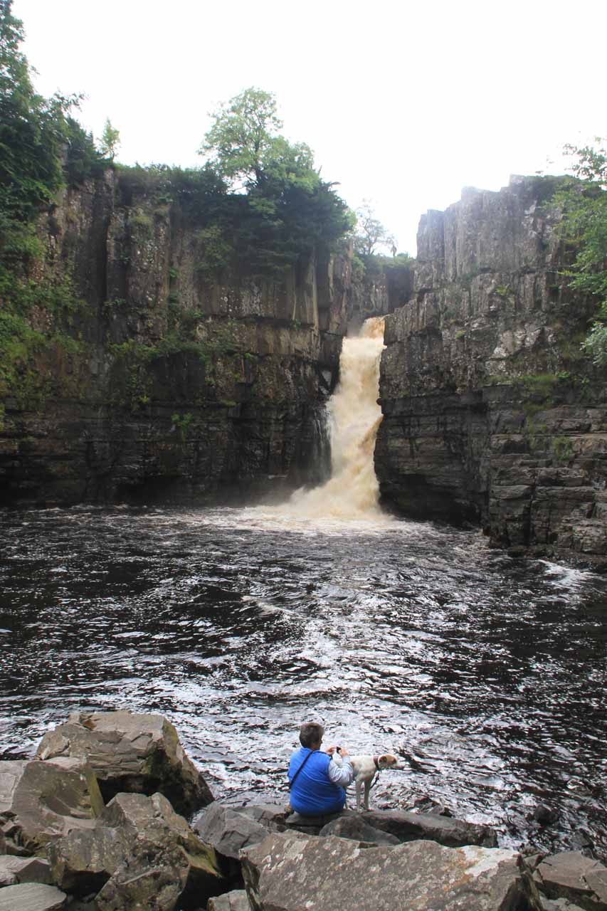 Context of the jumble of boulders fringing the plunge pool of High Force