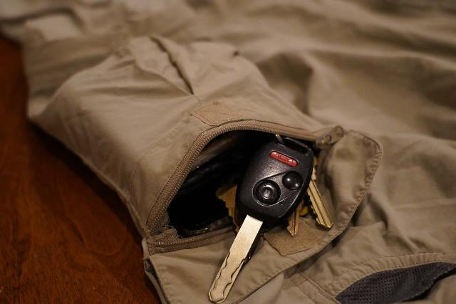 The lone zippered-pocket on this ExOfficio hiking pant was a bit on the small side
