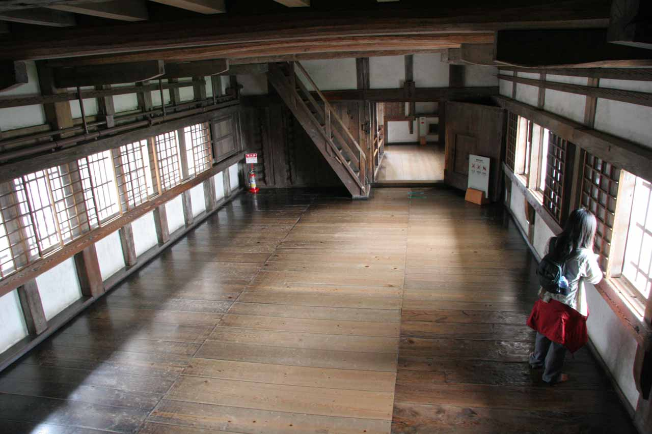 Inside one of the empty rooms inside Himeiji-jo