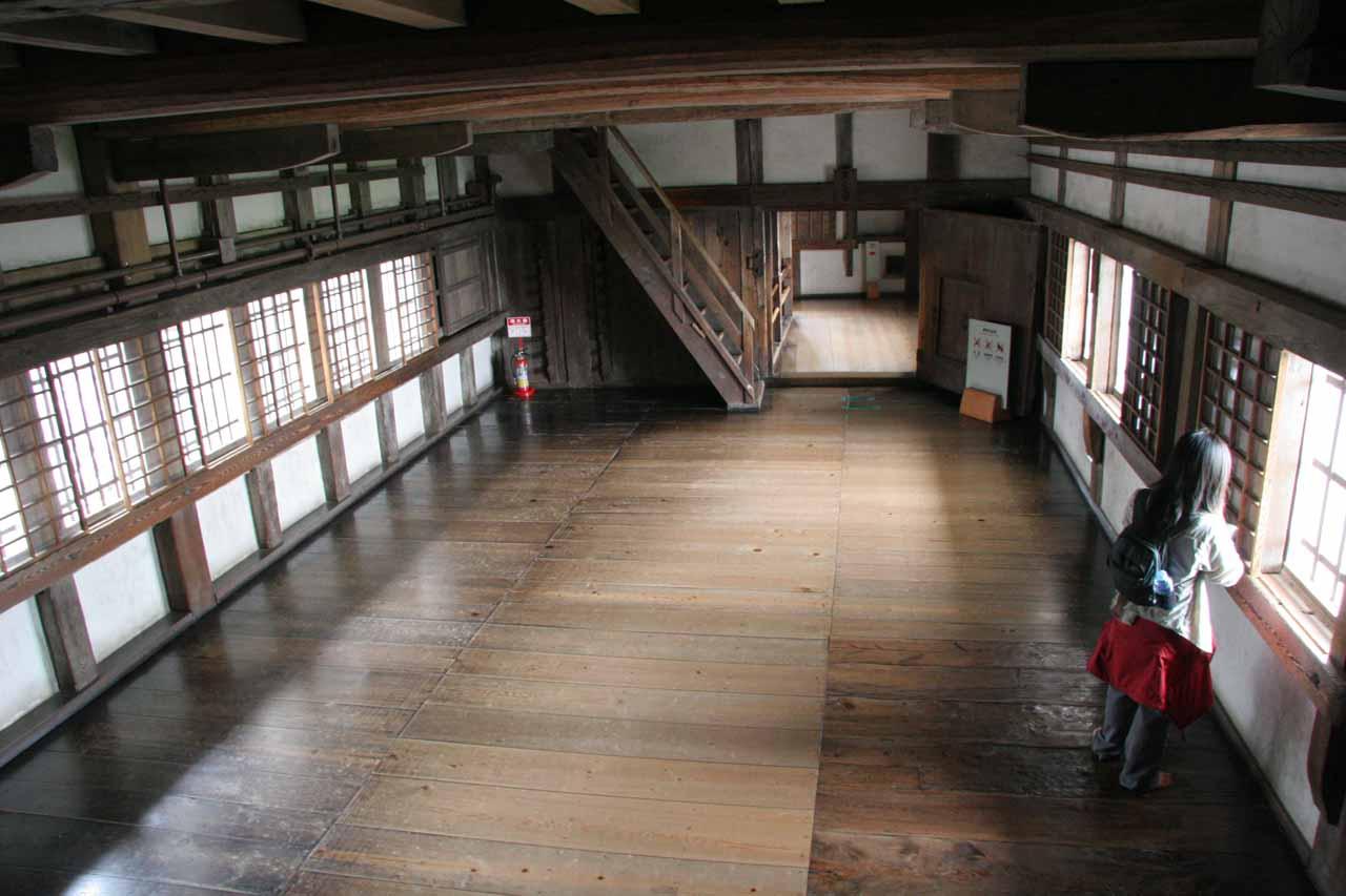Inside one of the empty rooms inside Himeiji-jo