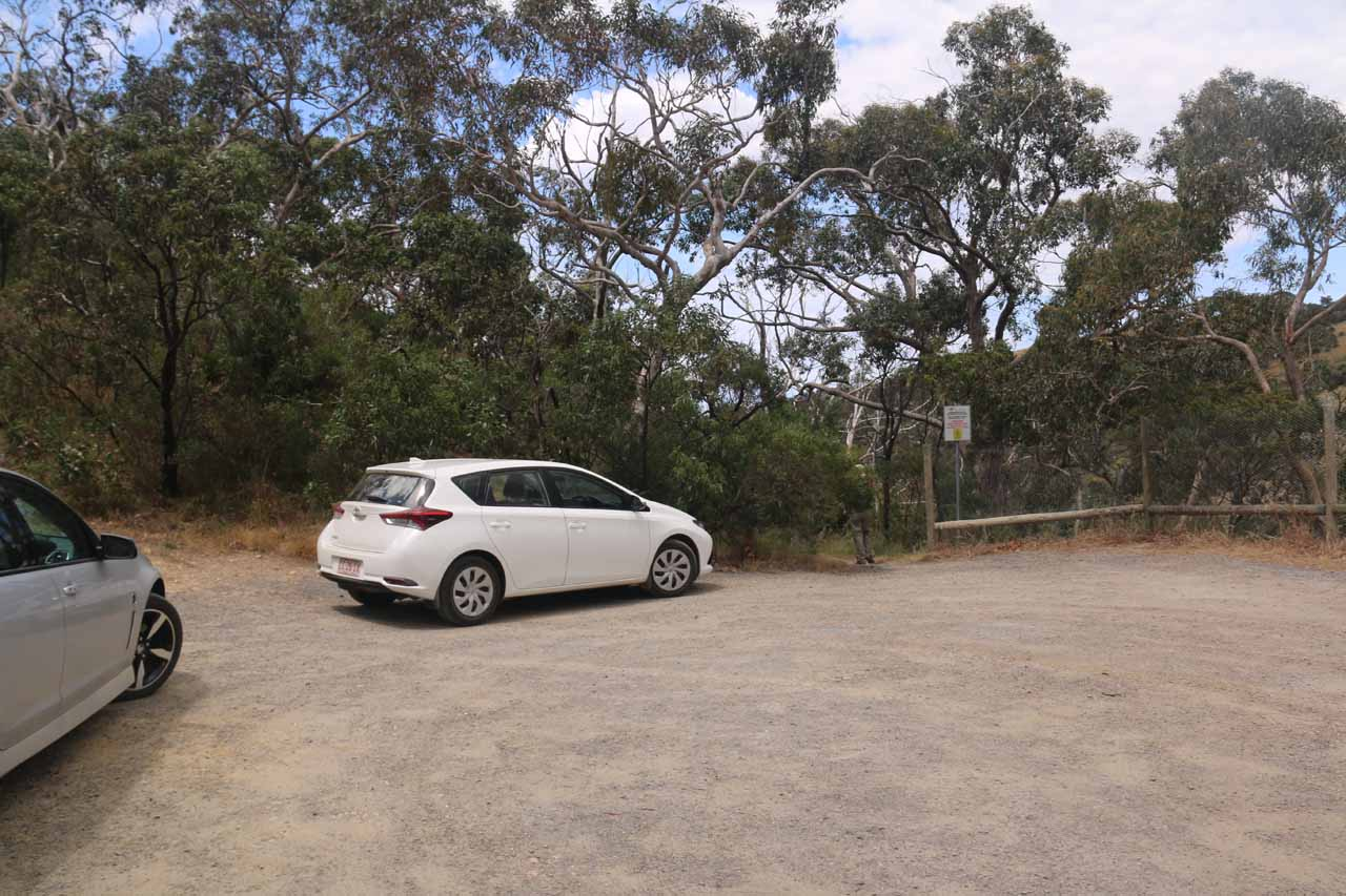 Back at the limited parking space at the end of the Hindmarsh Falls Road