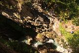 Hintertux_096_07182018 - Looking down at the context of the Tuxbach and the people at the lookout for the Schraubenfall while continuing along the trail