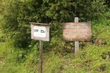 Hintertux_175_07182018 - During the hike towards the Schleierfall Trail, I encountered this signage and spur trail.  Bogensport means archery in German, so this was not a place to make a wrong turn and inadvertently end up in the line of fire