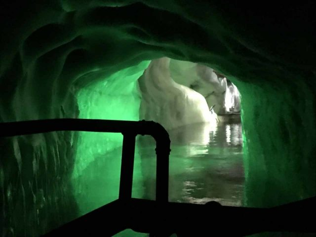 Hintertux_179_jx_07182018 - While I was doing the hard hike up to the Schleierwasserfall, Julie and Tahia took the Gletscherbus up to the Hintertux Glacier and into the Ice Palace Tour within the ice itself