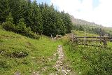 Hintertux_242_07182018 - Following along some fencing as I continued the climb up towards the Schleierfall and the Bichlalm Trail junction