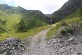 Hintertux_281_07182018 - Looking back from further down the upper trail with the Schleierfall in context