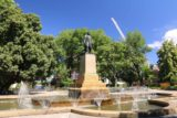 Hobart_17_182_11272017 - The statue and surrounding fountains in the heart of Franklin Park in Hobart CBD
