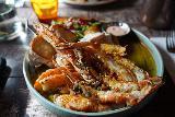 Hofn_008_08092021 - This was the expensive yet super fresh langostine or rock lobster that we had at Pakkhus in Hofn