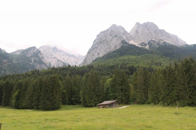 Hollentalklamm_008_06262018 - While walking from the P2 car park towards the town of Hammersbach, I managed to get these attractive views towards the Zugspitze