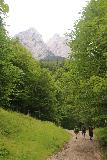 Hollentalklamm_019_06262018 - Continuing the ascending trail from Hammersbach to an unsealed road with the peaks of the Zugspitze area in the background