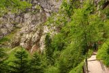 Hollentalklamm_067_06262018 - The further up the Hoellentalklamm Trail ascended towards its entrance, the more I started seeing things like this thin cascade in the distance