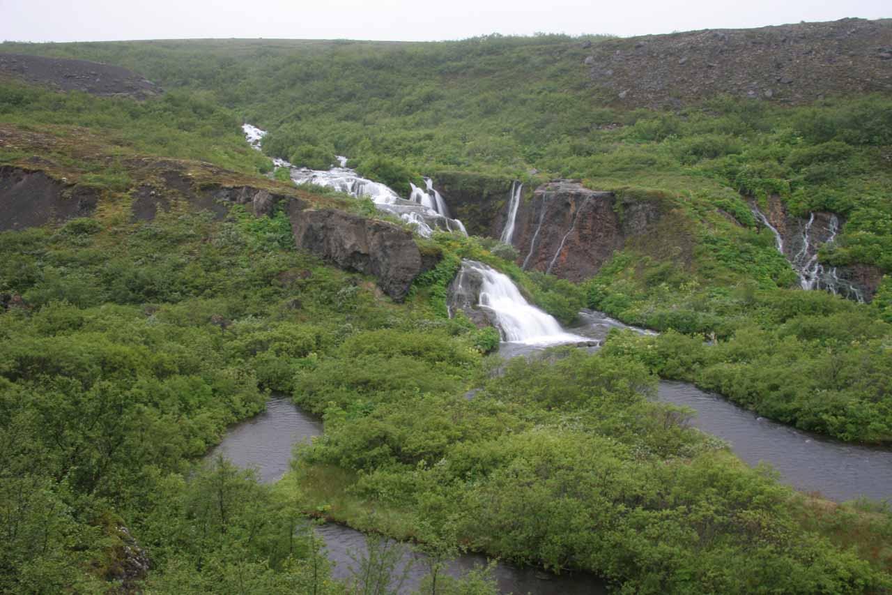 Approaching Urriðafossar