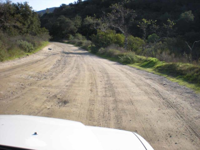 Holy_Jim_Falls_001_jx_02142010 - The unpaved Trabuco Canyon Road leading to the trailhead for Holy Jim Falls