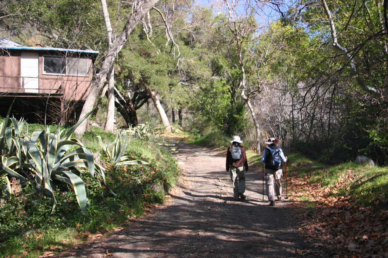 Cabins along the trail