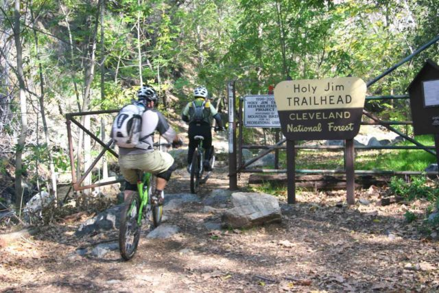 Holy_Jim_Falls_006_02142010 - The trail to Holy Jim Falls was both popular with hikers as well as mountain bikers