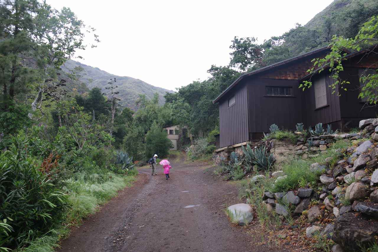 Six years later, Julie and Tahia walked by what seemed like more cabins than before