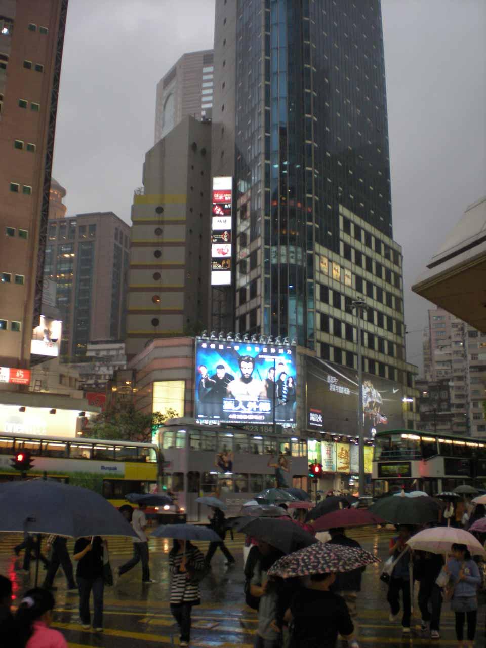 The Sogo area of Hong Kong