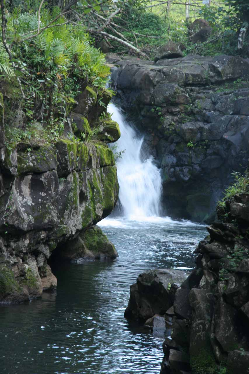 The first Ho'opi'i Falls