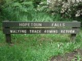 Hopetoun_Falls_001_jx_11152006 - Sign telling us how much time we can expect to put in to see Hopetoun Falls during our November 2006 visit