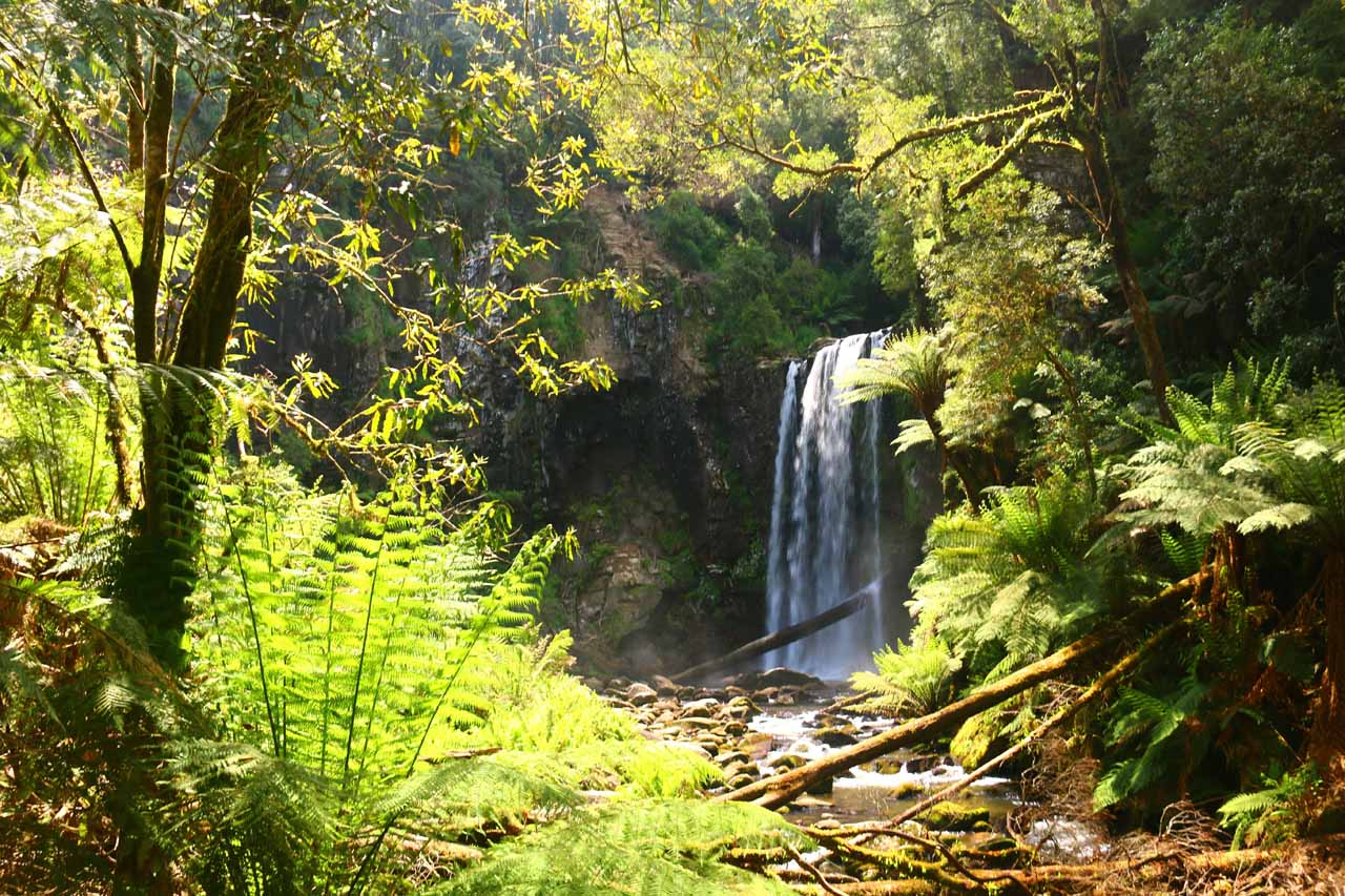 This was what Hopetoun Falls looked like when the late afternoon sun showed up