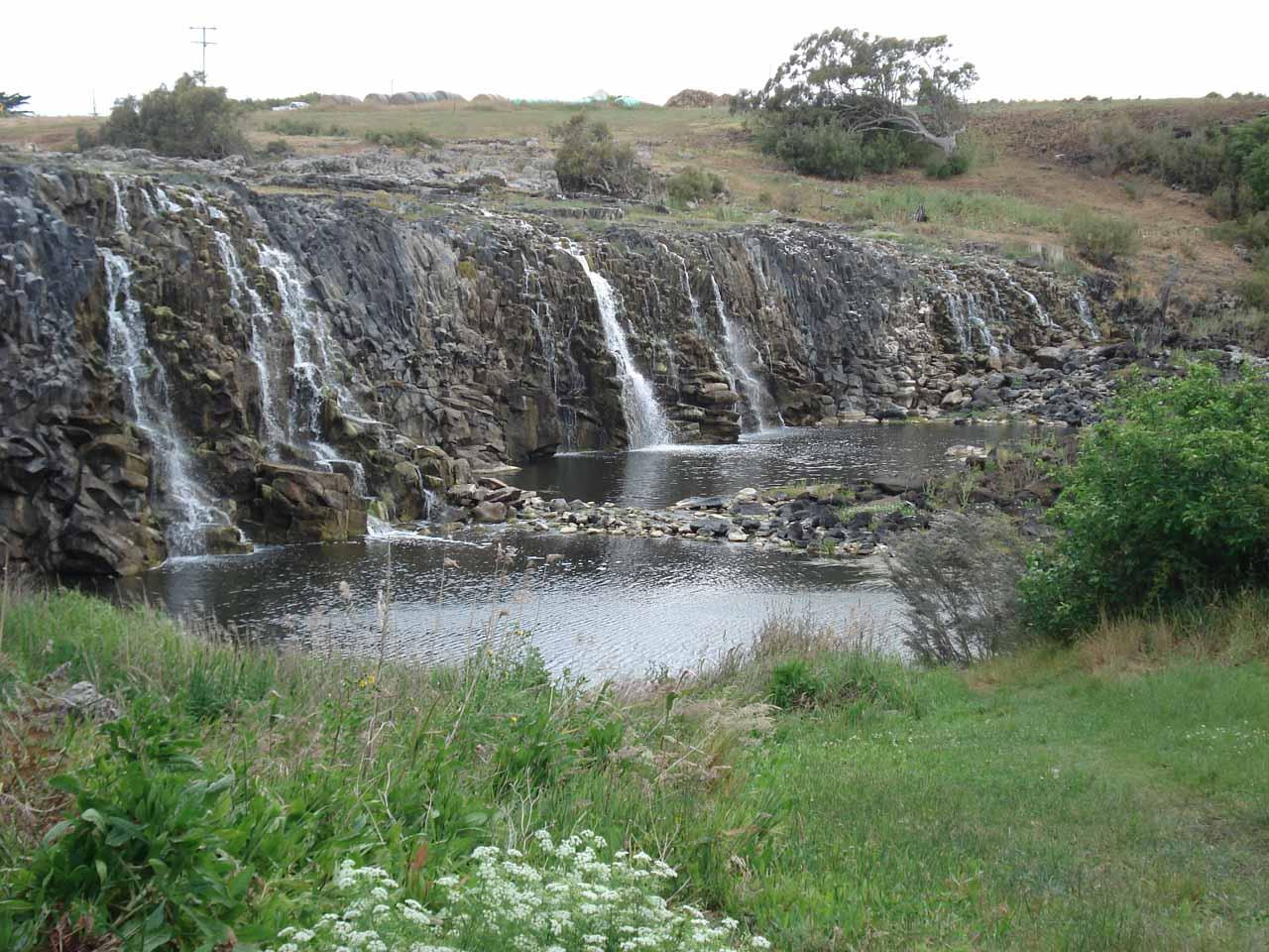 Looking right at the Hopkins Falls near its base