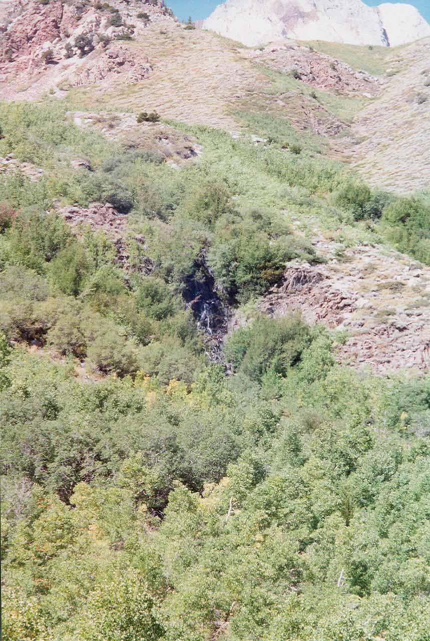 Horsetail Falls seen back in September 2001