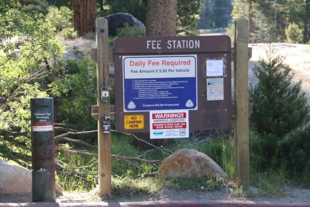 Horsetail_Falls_002_06222016 - Self-help fee station at the Pyramid Creek Trailhead