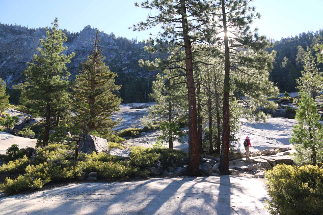 Continuing to try to follow the diamond-shaped trail markers as we tried to negotiate this hard-to-follow granite section