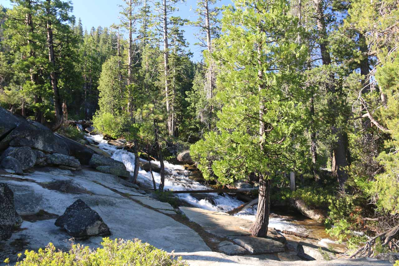 Approaching a cascade on Pyramid Creek that I believe the signs had indicated was the Cascade Vista