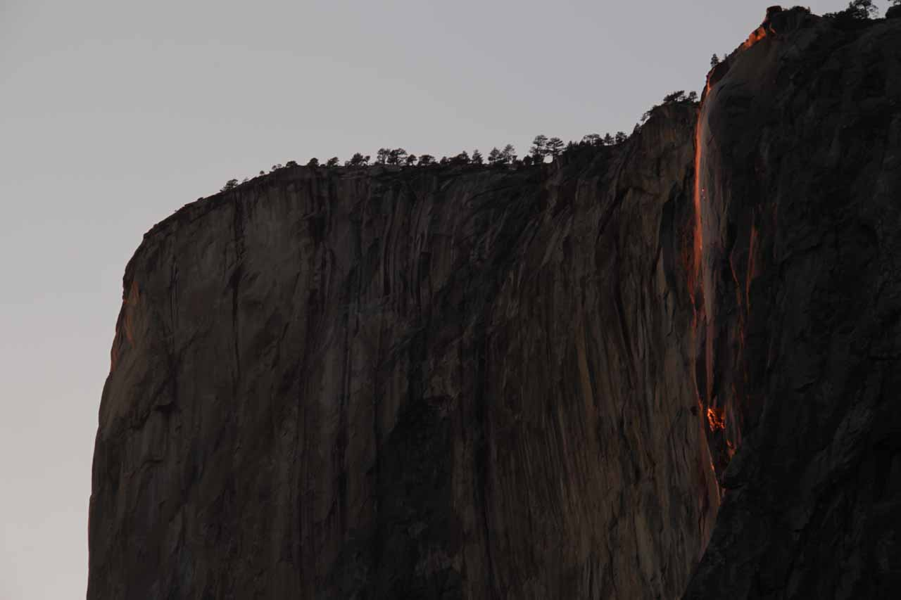 The firefall that is Horsetail Falls