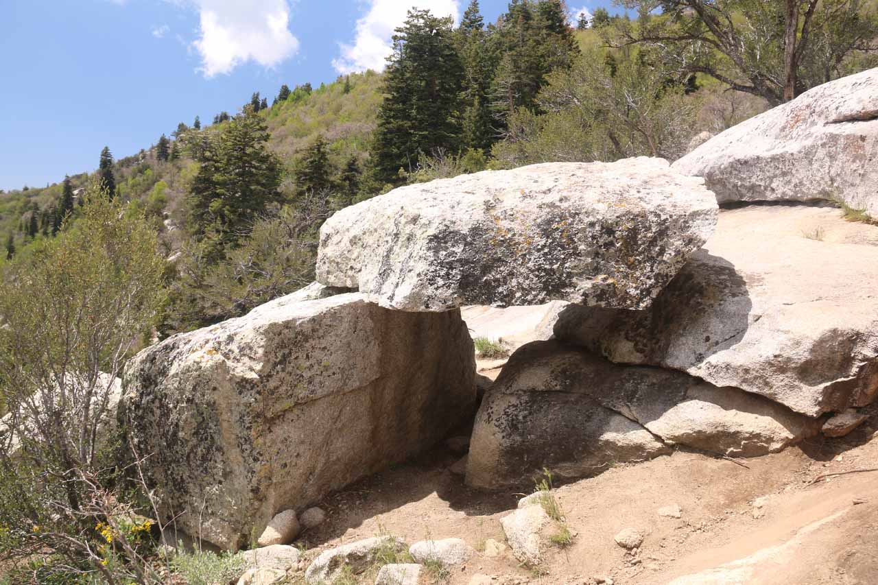 This was the rock 'arch' near the top of Horsetail Falls