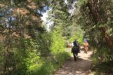 Horsetail_Falls_Alpine_168_05272017 - Looking back at some horseback riders on the Horsetail Falls Trail