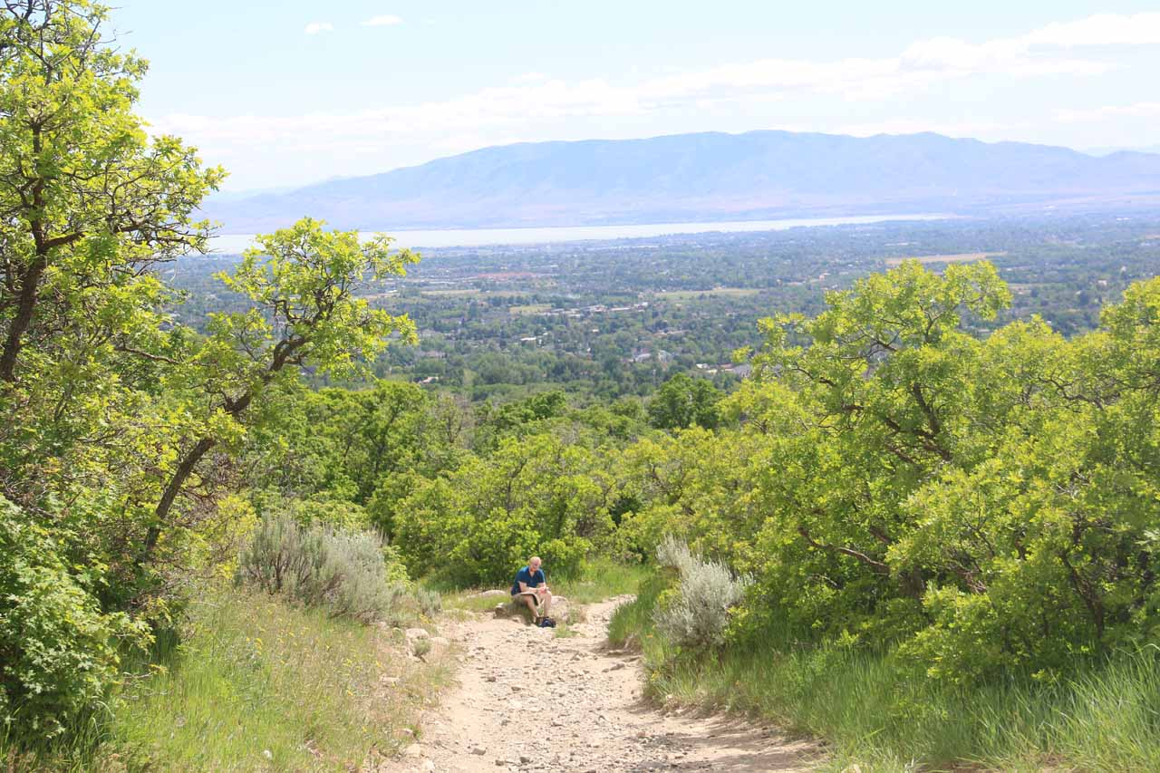 Looking towards Utah Lake as I was making the final descent to the trailhead