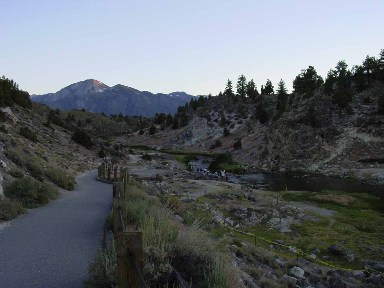 Quite close to Horsetail Falls across the Hwy 395 is Hot Creek, where it was once possible to soak in the naturally geothermally heated water, but these days the water is too hot to enter